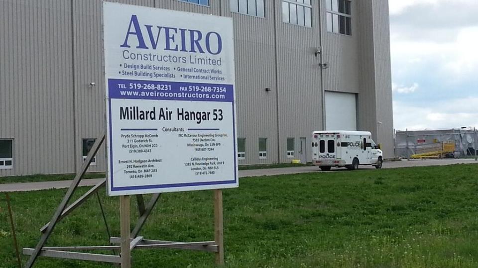 A police vehicle is seen at the Millard Air hangar at Region of Waterloo International Airport on Monday, May 13, 2013. (Tracy Tong / CTV Kitchener)