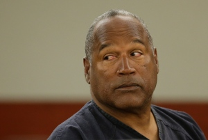 O.J. Simpson listens to testimony at an evidentiary hearing in Clark County District Court, in Las Vegas on Monday, May 13, 2013.  (AP / Julie Jacobson)