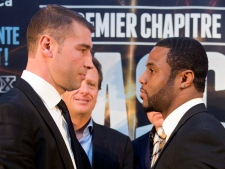 Lucien Bute, left, and Jean Pascal face off