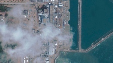 This satellite image provided by GeoEye shows the Fukushima Dai-ichi nuclear power.