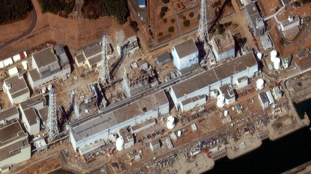 This satellite image shows the Fukushima Dai Ichion Friday, March 18, 2011. (DigitalGlobe)