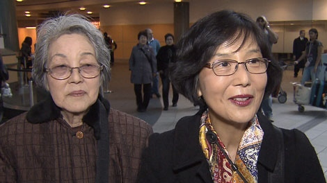 Yuri Wong travelled to Japan to bring her mother Kiyoko Ushijima home to Vancouver. March 18, 2011. (CTV)