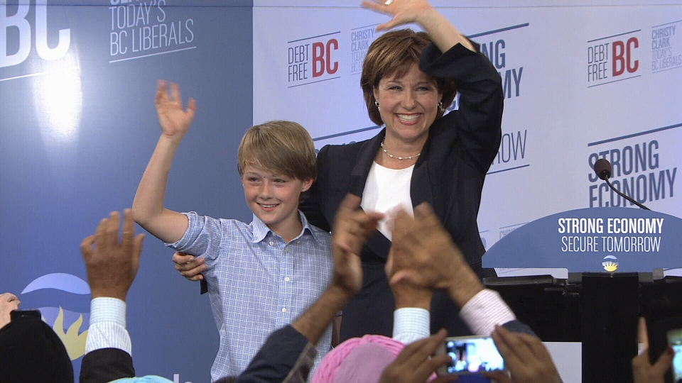 BC Liberals win majority, but Christy Clark loses her seat