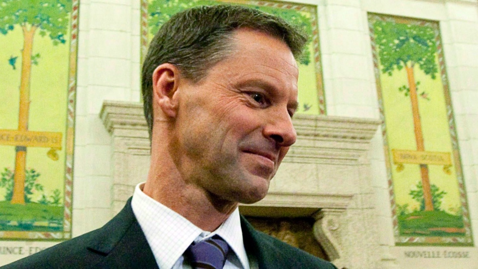 Nigel Wright, former chief of staff for Prime Minister Stephen Harper, appears as a witness at the Standing Committee on Access to Information, Privacy and Ethics on Parliament Hill in Ottawa, Nov. 2, 2010. (Sean Kilpatrick / THE CANADIAN PRESS)