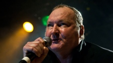 Randy Quaid debuts his 'Star Whackers' theme song at The Commodore Ballroom in Vancouver, B.C. March 18, 2011. (Anil Sharma/CTV)