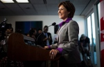 B.C. Premier Christy Clark smiles during a news conference at her office in Vancouver, B.C., on Wednesday, May 15, 2013. (Darryl Dyck / THE CANADIAN PRESS)