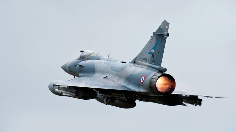 This photo provided by the French Army shows French Mirage 2000 jet fighter taking off for Libya at the military base of Dijon, central France, Saturday, March 19, 2011. (AP / Anthony Jeuland; SIRPA AIR)