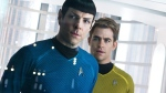 Quinto, left, as Spock and Chris Pine as Kirk in a scene in from Paramount Pictures Entertainment's 'Star Trek Into Darkness'