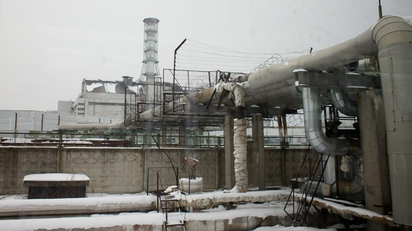 Chernobyl nuclear cleanup to be costly for decades ctv news pipes seen in the foreground of the building of reactor no 4 at the chernobyl freerunsca Images