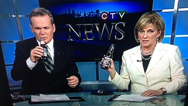 Poutine Soda taste test on CTV News