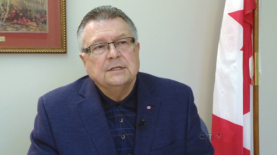 Liberal MP Ralph Goodale speaks with CTV News from Regina, Thursday, May 16, 2013.