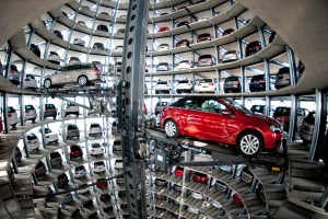 European auto sales grew in April for the first time since September 2011, ending 18 consecutive months of decline, but the improvement was a technical one because of two extra work days last month, the European automaker's association said on Friday, May 17, 2013. (dapd / Nigel Treblin)