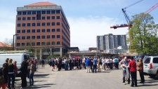 Eathquake evacuation in Kitchener