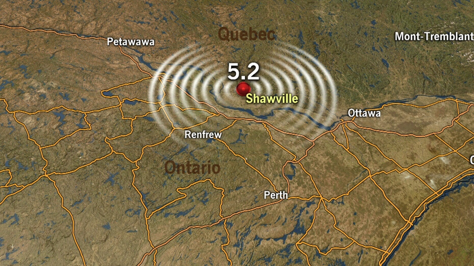 Earthquake reported in Ontario and Quebec