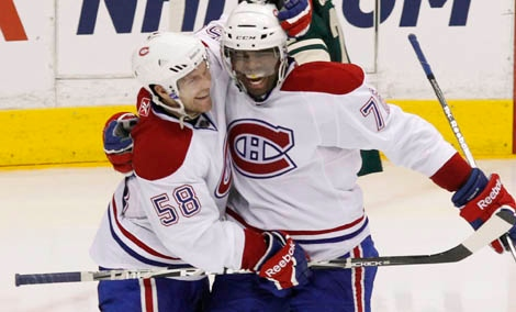 Montreal Canadiens' P.K. Subban (Sunday, March 20, 2011, in St. Paul AP Photo/Genevieve Ross)