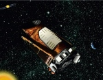 This artist rendition provided by NASA shows the Kepler space telescope. (AP / NASA)