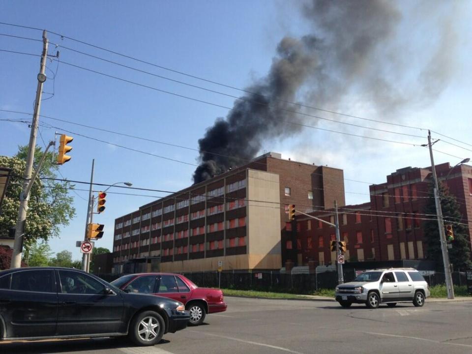Fire At Former Grace Hospital Site Ctv Windsor News
