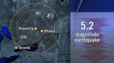 5.2 magnitude earthquake in Quebec