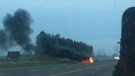 Facebook image of fiery crash on Highway 10.