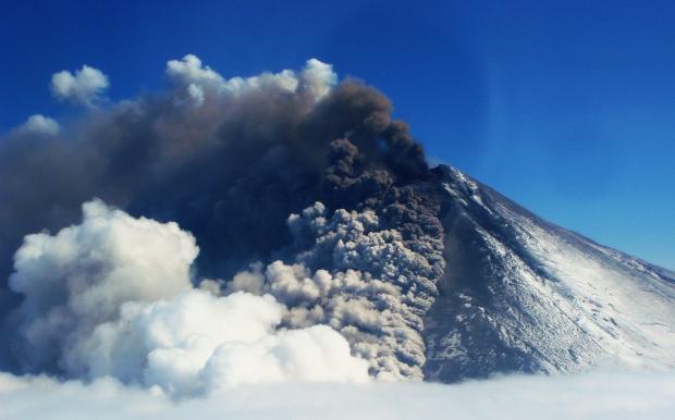 The Pavlof volcano in Alaska