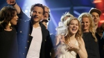 Winner of the 2013 Eurovision Song Contest Emmelie de Forest of Denmark who sang Only Teardrops, celebrates with the trophy after the final at the Malmo Arena in Malmo, Sweden, Saturday, May 18, 2013. (AP / Alastair Grant)