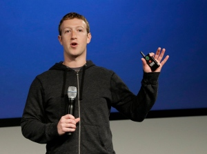 Facebook CEO Mark Zuckerberg speaks at Facebook headquarters in Menlo Park, Calif., on Thursday, March 20, 2013. (AP / Jeff Chiu)