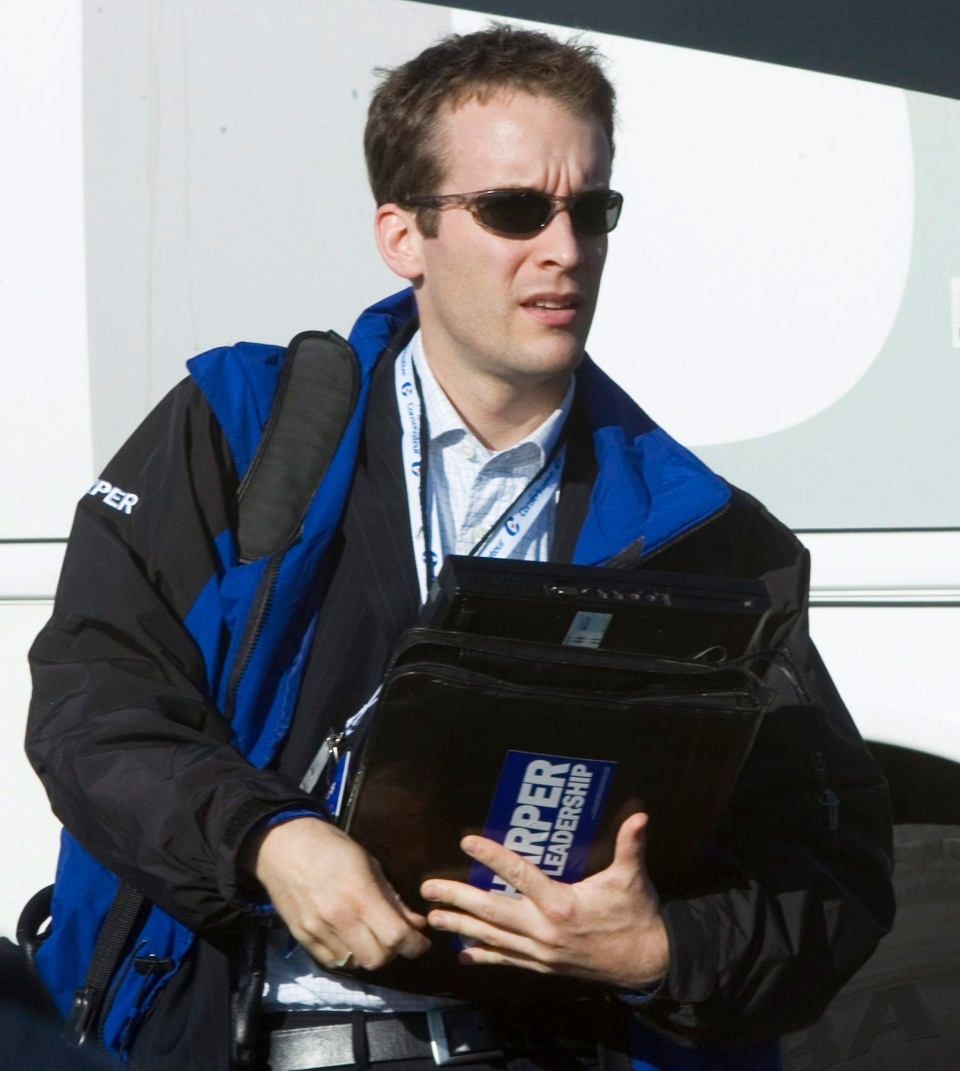Stephen Harper's Executive Assistant Ray Novak is pictured Sept. 11, 2008, in Montreal, on the Harper campaign. (Tom Hanson / THE CANADIAN PRESS)
