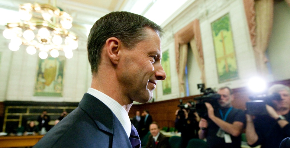 Nigel Wright, the former chief of staff for Prime Minister Stephen Harper, appears as a witness at the Standing Committee on Access to Information, Privacy and Ethics on Parliament Hill in Ottawa on Tuesday, Nov. 2, 2010. (Sean Kilpatrick / THE CANADIAN PRESS)