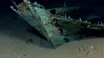 In this photo provided by NOAA Okeanos Explorer Program, a well preserved shipwreck is seen in the Gulf of Mexico, Friday, April 26, 2012. (AP / NOAA Okeanos Explorer Program)