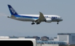 In this Sunday, April 28, 2013 file photo, a Boeing 787 Dreamliner of the All Nippon Airways prepares to land after a test flight at Haneda International Airport in Tokyo. United Airlines is getting its 787s back in the air. (AP / Shizuo Kambayashi)