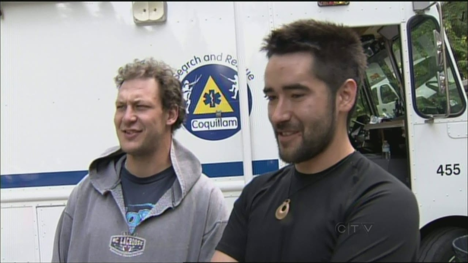 Two of the young men rescued Monday after being stranded overnight at Buntzen Lake near Coquitlam say they'll be better prepared for their next hike. (CTV)