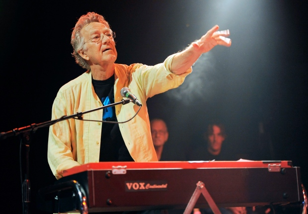 Ray Manzarek of The Doors performs at the Sunset Strip Music Festival launch party celebrating The Doors at the House of Blues in West Hollywood, Calif., Aug. 16, 2012. (Chris Pizzello / Invision)