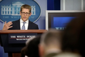 White House Press Secretary Jay Carney gestures as he speaks during his daily news briefing at the White House in Washington, Monday, May, 20, 2013. (AP / Pablo Martinez Monsivais)