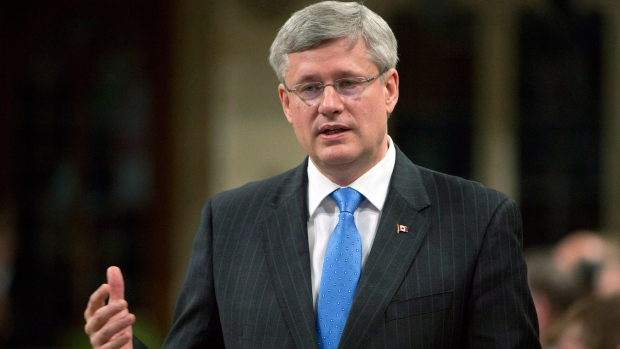 Prime Minister Stephen Harper responds to a question during question period in the House of Commons in Ottawa, Thursday May 9, 2013. (Adrian Wyld / THE CANADIAN PRESS)