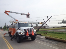 Hydro lines down