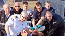 A man was stabbed to death on a B.C. basketball court in Kamloops on March 22, 2011. (Dave Eagles/Kamloops This Week)