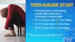 CTV News Channel: Details on teen suicide study