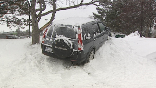 Roads were treacherous after an overnight storm in Waterloo Region, Ont. on Wednesday, March 23, 2011.