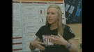 Jessie MacAlpine, a Grade 12 student in Woodstock, Ont., talks about her award-winning research on Tuesday, May 21, 2013.