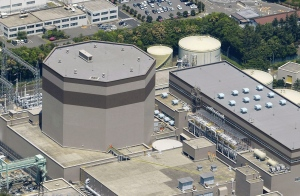 The No. 2 reactor building of the Tsuruga nuclear power plant is seen in Tsuruga, Fukui prefecture, on the Sea of Japan coast, Wednesday, May 15, 2013. (AP Photo/Kyodo News)