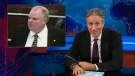 On The Daily Show with Jon Stewart, the late-night host pokes fun at Mayor Rob Ford, Tuesday, May 22, 2013.