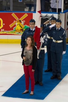 Alexis Normand national anthem