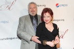 Harvey Fierstein, left, and Cyndi Lauper arrive at the 79th Annual Drama League awards at the Marriott Marquis Times Square on Friday, May 17, 2013 in New York. (Evan Agostini / Invision)