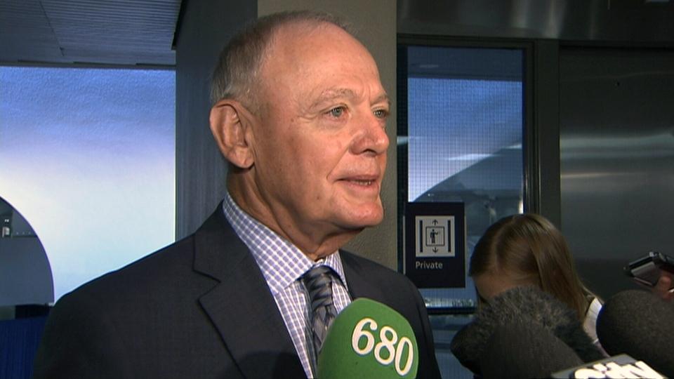 Toronto Deputy Mayor Doug Holyday speaks to media at city hall, Wednesday, May 22, 2013.