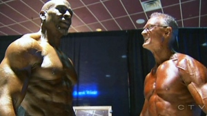 Bodybuilding grandpas compete with the young