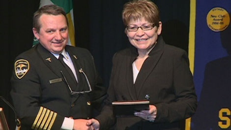"The MD Ambulance in Saskatoon has awarded Shirley Isbister the ""Star Award,� for going above and beyond the call of duty."