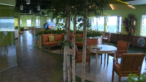 Interior of the Sheldon Kennedy Child Advocacy Centre