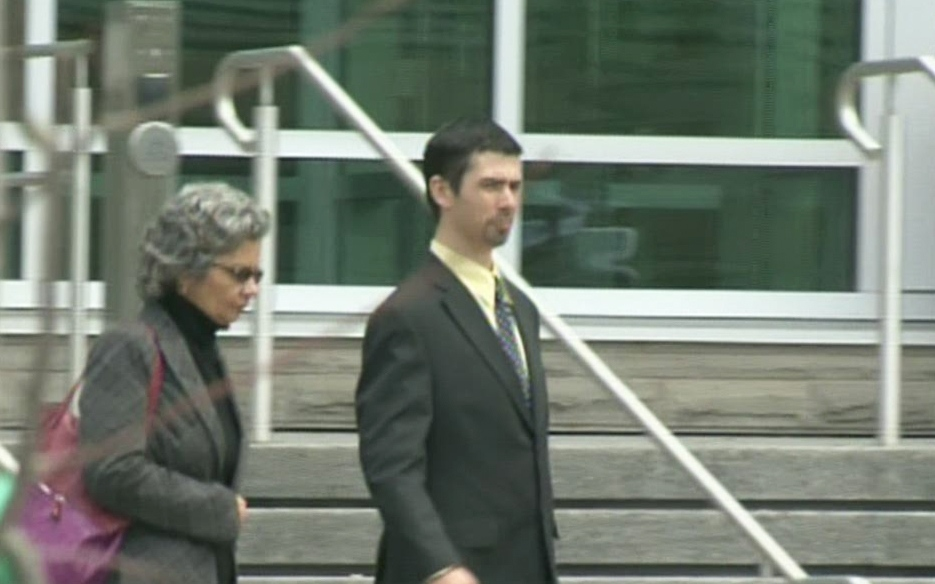 Ryan Arcon is seen outside Kitchener's courthouse in this file photo.