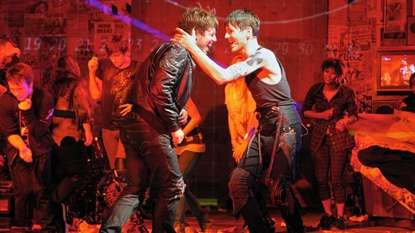 John Gallagher Jr., left, and Tony Vincent are shown in Green Day's, 'American Idiot.'