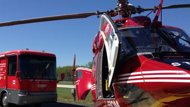 A file image shows a STARS Air Ambulance in Winnipeg, Man.